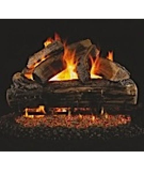 Peterson REAL FYRE Split Oak Vented Gas Log Set with ANSI-Certified G45 G46 Burner