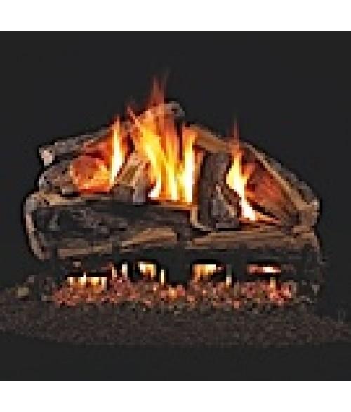 Peterson REAL FYRE Rugged Split Oak Vented Gas Log Set with ANSI-Certified G45 G46 Burner