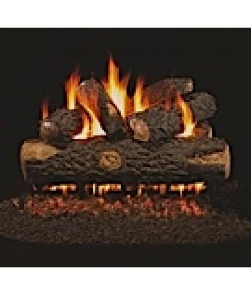 Peterson REAL FYRE Woodland Oak Vented Gas Log Set with ANSI-Certified G45 G46 Burner