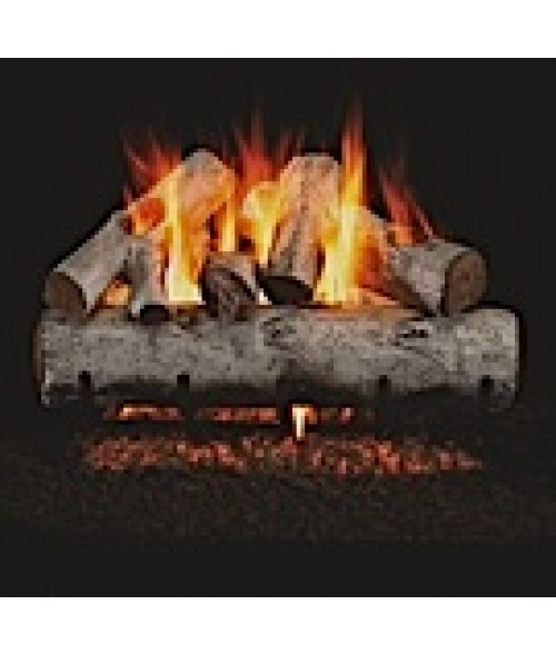 Peterson REAL FYRE White Birch Vented Gas Log Set with ANSI-Certified G45 G46 Burner