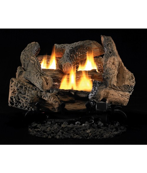 Vantage Hearth Golden Oak Gas Log Set w/ Dual Burner System