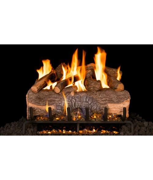 RH Peterson Mountain Crest Oak Vented Gas Log Set with 3-Tiered G31 Burner