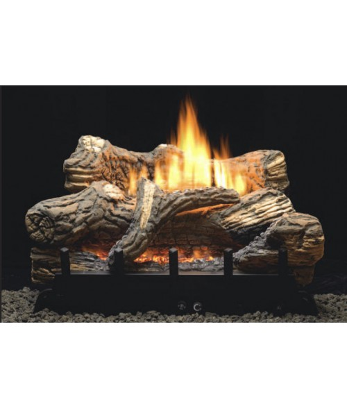 Empire Flint Hill Vent-Free Gas Log Set with ANSI-Certified Burner