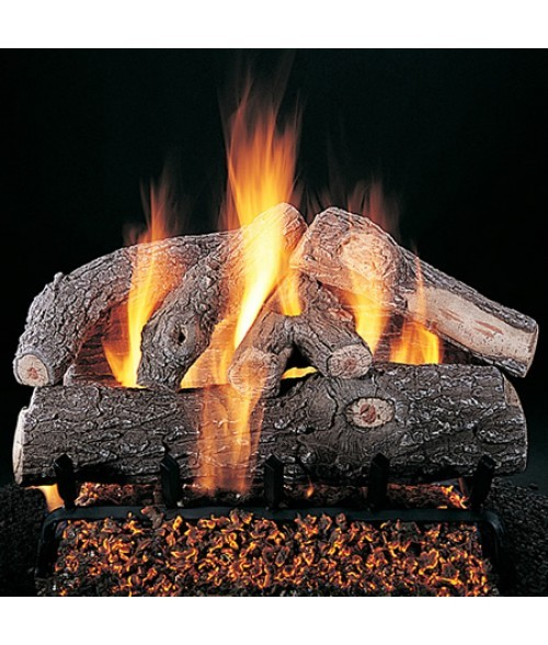 Rasmussen Frosted Oak Vented Gas Log Set w/ FX Burner