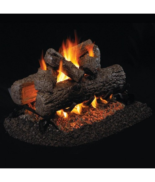 Peterson REAL FYRE Golden Oak  See Thru VENTED Gas Log Set with G45 Burner