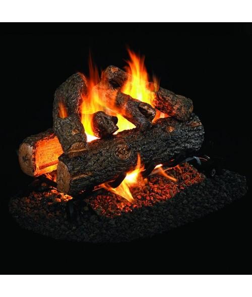 Peterson REAL FYRE Golden Oak Designer Plus See Thru VENTED Gas Log Set with G45 Burner