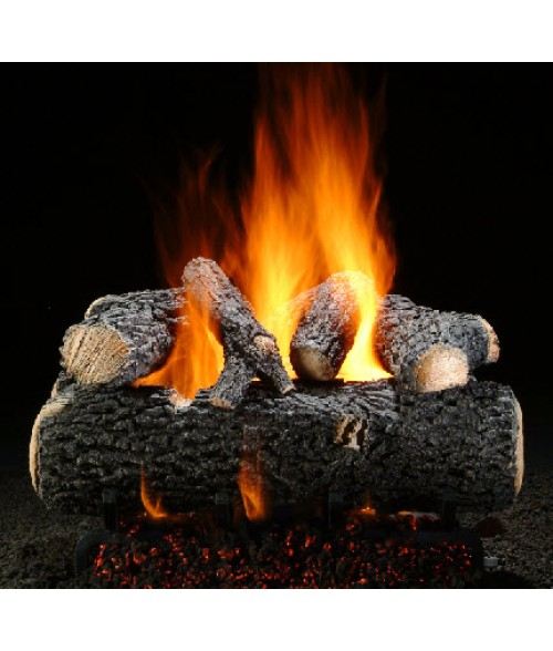 Hargrove Grand Oak Vented Gas Log Set with Burner