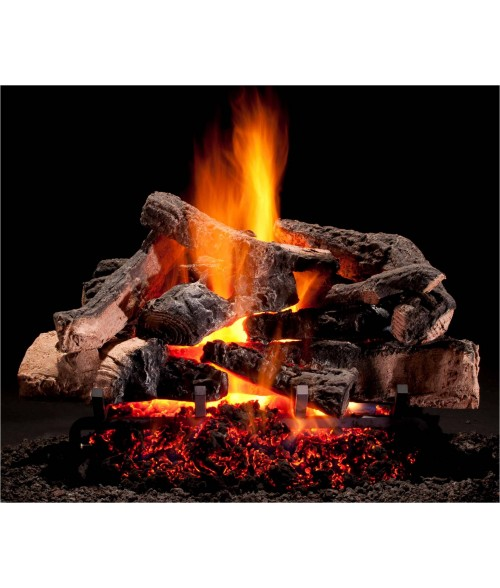 Hargrove Rustic Timbers Vented Gas Log Set with Burner