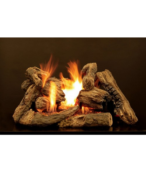 Empire Kensington Forest Vented Gas Log Set with Elite Radiant Burner