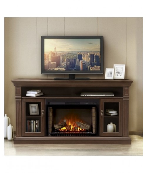 oak manor with com jamerson fireplace ebony infrared lowboy westcliff electric home homedepot chestnut sound console media decorators shop vision brown in from collection