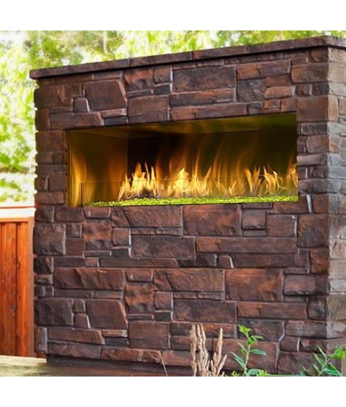 "Majestic Palazzo 48"" Outdoor Vent-free Linear Gas Fireplace"