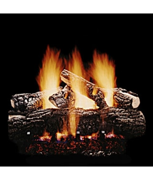 Hargrove Blazing Pecan Vented Gas Log Set with Burner