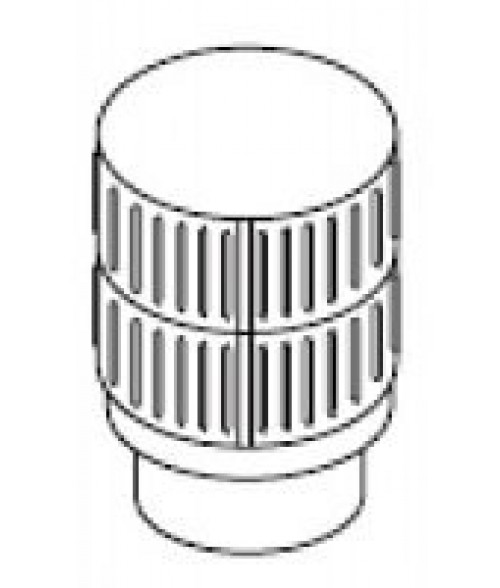 "FMI/Superior Round Top 12"" Chimney Termination - Louvered Screen"