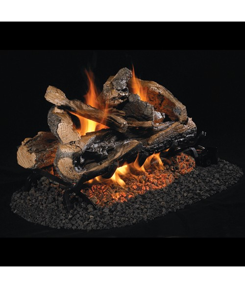 Peterson REAL FYRE Rugged Split Oak  See Thru VENTED Gas Log Set with G45 Burner