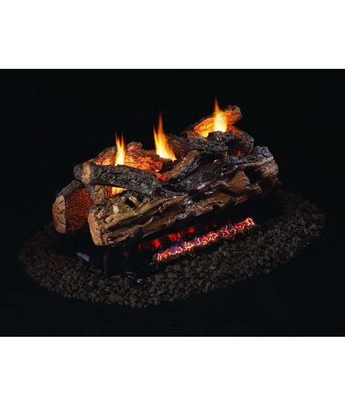 Peterson REAL FYRE Split Oak Designer Plus See Thru VENTED Gas Log Set with G45 Burner