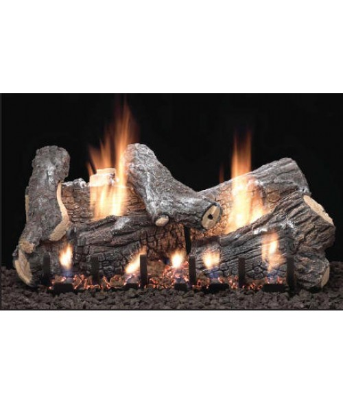 Empire Sassafras Vent-Free Gas Log Set with Slope Glaze Burner