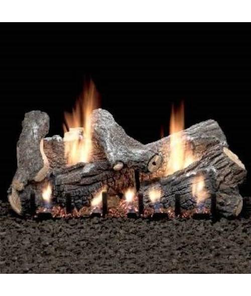 Empire SASSAFRAS Gas Log Set With VENTED Slope Glaze Burner