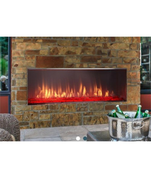 "Majestic Lanai 51"" Outdoor Vent-free Linear Gas Fireplace"