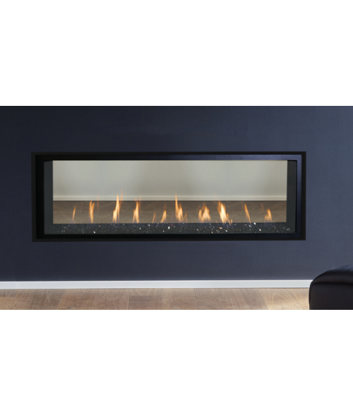 Superior DRL4000 Direct-Vent See-Through Linear Gas Fireplace - 60""