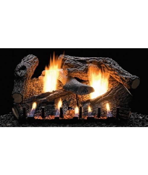 Empire SUPER SASSAFRAS  Gas Log Set With VENTED Slope Glaze Burner
