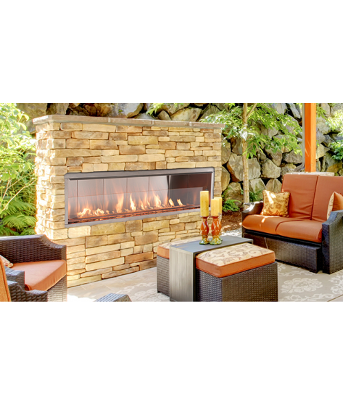 Superior VRE4600 Vent Free Outdoor Linear Fireplace (See Thru Compatible)