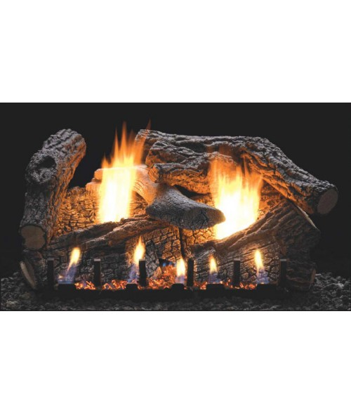 Empire Super Sassafras Vent-Free Gas Log Set with Slope Glaze Burner