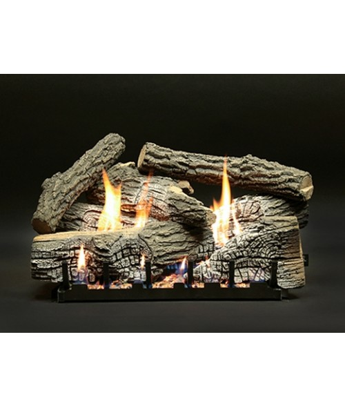 Empire Super Stacked Wildwood Vent-Free Gas Log Set with Slope Glaze Burner