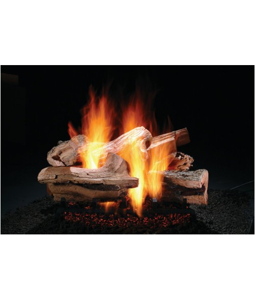 Hargrove Mountain Timber Vented Gas Log Set with Burner