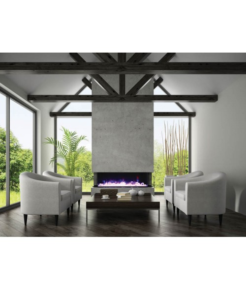 Amantii TRU-View Multiple Sided Electric Fireplace - 72""