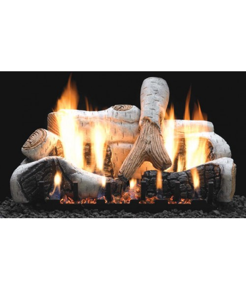 Empire Birch Vent-Free Gas Log Set with Slope Glaze Burner