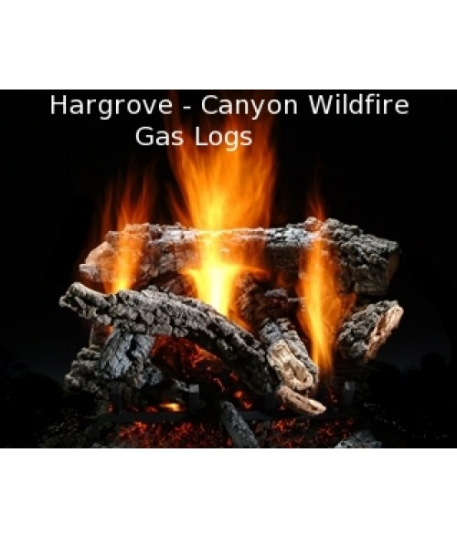 Hargrove Canyon Wildfire Vented Gas Log Set with Burner