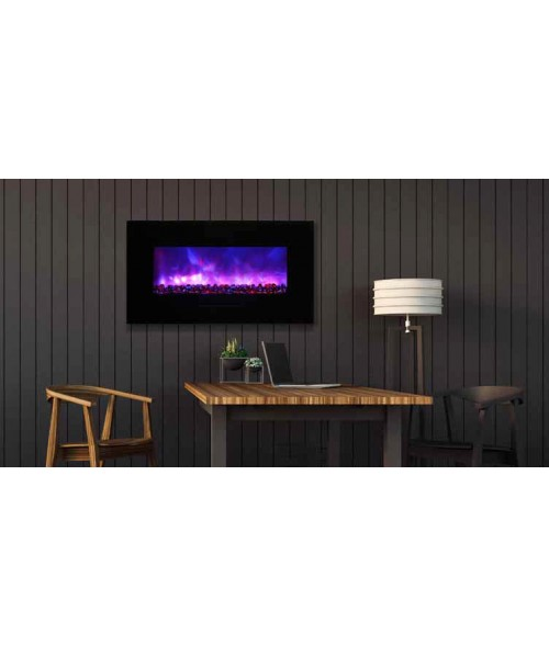 "Amantii 34"" Wall Mount/Flush Mount Electric Fireplace"
