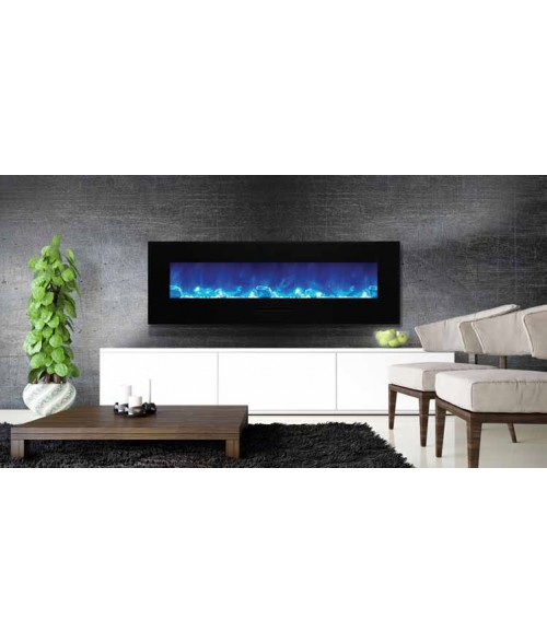 "Amantii 60"" Wall Mount/Flush Mount Electric Fireplace"