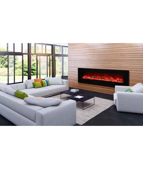 "Amantii 72"" Wall Mount/Flush Mount Electric Fireplace"
