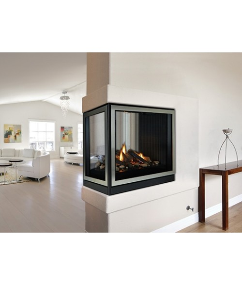 "Empire Tahoe Clean Face Direct-Vent Peninsula Premium 36"" Gas Fireplace"