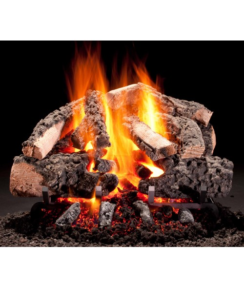 Hargrove Woodland Timbers Vented Gas Log Set with Radiant Heat Burner